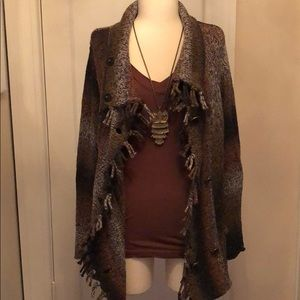 EUC CAbi cotton blend, double breasted cardigan, M